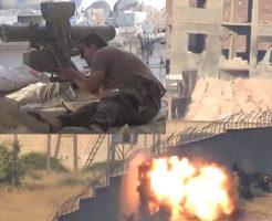 【衝撃映像】兵士「ここなら安全やろ!みんな休憩するで~」敵「丸見え過ぎwミサイルプレゼントwww」