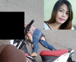 【グロ画像】バイクで4人乗りしてミキサー車に踏み潰された美人ママのビフォーアフター・・・ ※閲覧注意