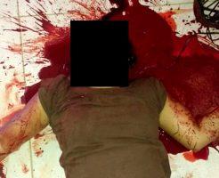 【グロ画像】マチェットみたいな鎌の切れ味試して彼女の首切ってみたら死んだから責任取って自殺してみた ※閲覧注意
