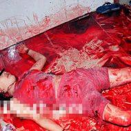 【グロ画像】ヤンデレ彼氏が嫉妬して彼女をめった刺しにした血の海現場と遺体検死の画像貼ってく 閲覧注意