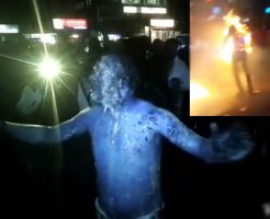 【衝撃映像】もっと熱くなれよ!全身燃えてる熱血おじさんの姿が神々しすぎると海外ネット民が騒然www ※閲覧注意