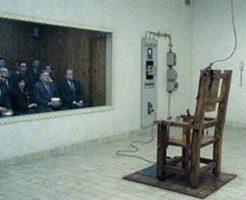 【グロ画像】女児レイプ犯を電気椅子で死刑執行してみた 閲覧注意