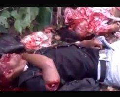 【レイプ殺人】茂みでマンコを犯したレイプ魔さん 殺害途中で村人Aに見つかりマチェット浴びせられ虫の息へ・・・※グロ動画