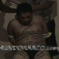 【グロ動画】イスに縛り付けて拷問して首ねじ切って殺害してるのが・・・