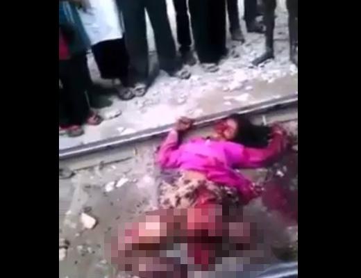 【グロ 動画】女の子「もう立ってられにゃ~い~」電車に飛び込んで失敗したらこうなる・・・