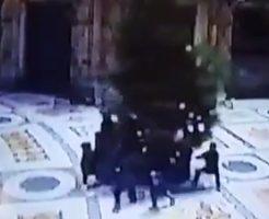 【衝撃動画】モールにあるでっかいクリスマスツリーが羨ましかったので盗んでみた!
