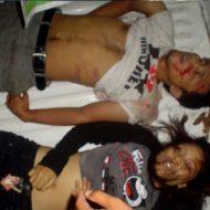 【グロ注意】女5、男4のリア充大学生がお祭り帰りに全員死亡した現場写真・・・女の子の股間になんか乗っとる。。