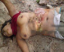 【グロ注意 画像】浮気JKさん、彼氏に絞殺、腹切り裂かれ、川に捨てられる