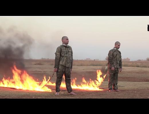 【超・閲覧注意】ISIS処刑の中で一番残虐な火あぶり処刑がトルコ兵士に執行される・・・ 動画