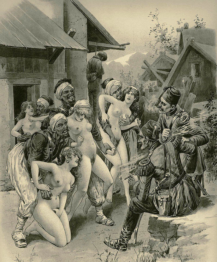 【レ●プ】オスマン帝国軍が支配領域でレ●プしまくってる絵画見つかったwww