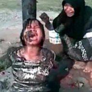 【拷問】縛り付けた女の子に泥を喰わせて一方的なママゴトするマジキチキッズたち・・・