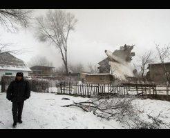 【速報】トルコ航空貨物飛行機がキルギスで民家に墜落して大惨事なった現場写真・・・