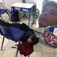 【グロ画像】学校で乱れ撃ちして同級生と先生が殺された事故現場写真…