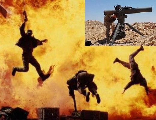 【衝撃映像】人間にロケット弾撃ったらみんな吹き飛んでワロタwww