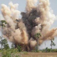 【グロ動画】国内に1000万個埋蔵!のうち1つの地雷を踏んだ直後の映像 ※閲覧注意