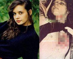 【グロ画像】1000年に1度クラスの女優さん、ハサミで18箇所刺されて死ぬ ※閲覧注意