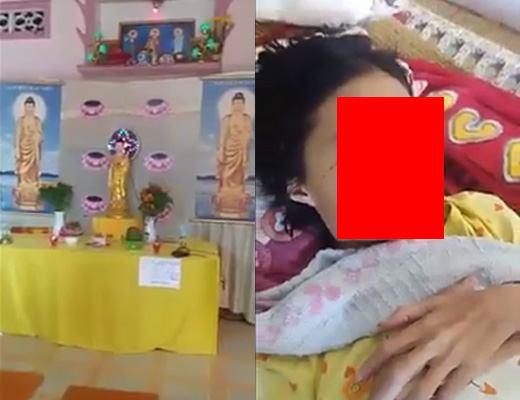 【グロ動画】顔半分ぐらいなくなった幼女にディスペルの呪文かけて助けようとするヤバい宗教2 ※閲覧注意
