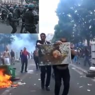 【衝撃映像】パリ警察さんが警棒使って市民のアナルを開発した結果 国内が戦争状態になるハプニング