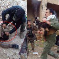 【イスラム国】獲ったどー!ISISの兵士の首を斬首して持ち歩きお祭り騒ぎして歓喜の雄叫びするおっさん集団が怖E ※閲覧注意
