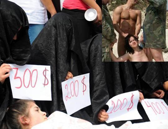 【胸糞注意】イスラム国さん 売り物の女の子を家族の前でレイプし映像公開してお金を稼いでいる模様・・・