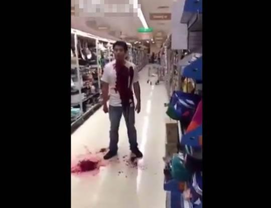 【グロ動画】店員「金払ってからやらんかい!」キッチン用品売り場の包丁で自分の首を切り裂いて死んでるやつおったんやが・・・ ※閲覧注意
