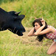 【おもしろ映像】女の子がオティンティンをお・も・て・な・し!してる動画をヤラシイ目つきで見ちゃう奴は変態確定!! まあ牛さんだがなw