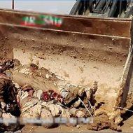 【イスラム国】戦場で死体を集めるのがめんどくさいイラク兵さん isisさんの死体をブルドーザー使って生ゴミの様に扱ってる模様w ※グロ動画