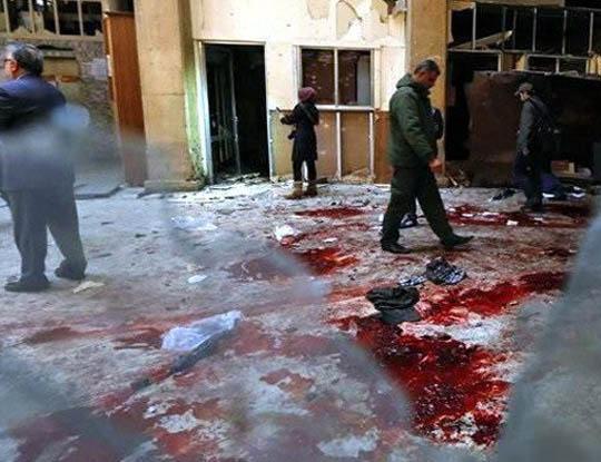【グロ画像】32人が一瞬で肉塊になった自爆テロ現場が怖Eー ※閲覧注意