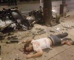 【事故映像】ワイルドスピード出してた車が事故った結果 車も乗客もみんなバラバラで悲惨すぎて怖Eー ※グロ動画