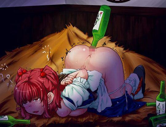 【アナル拡張ガール】尻穴にアルコール注入してる女の子wお酒がいっぱい入っていく瞬間をご覧くださいwww ※衝撃映像