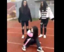 【胸糞注意】中国のJCさん 1人の女の子を殴る蹴るの暴行を加えてリンチする一部始終が鬼畜過ぎる・・・ ※衝撃映像