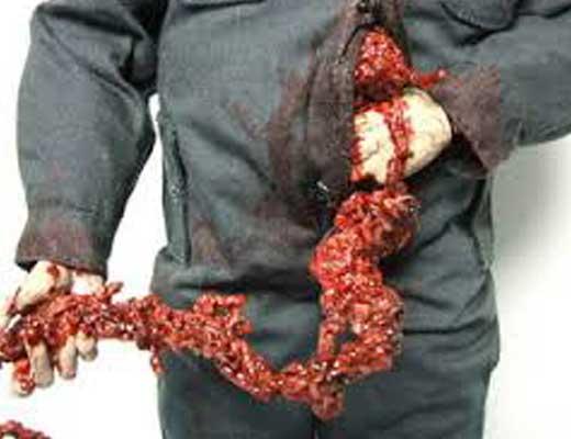 【本物処刑】斬首レベル1の素人さん 首を切断することができずに代わりに内臓取り出し御満月の模様w ※グロ動画