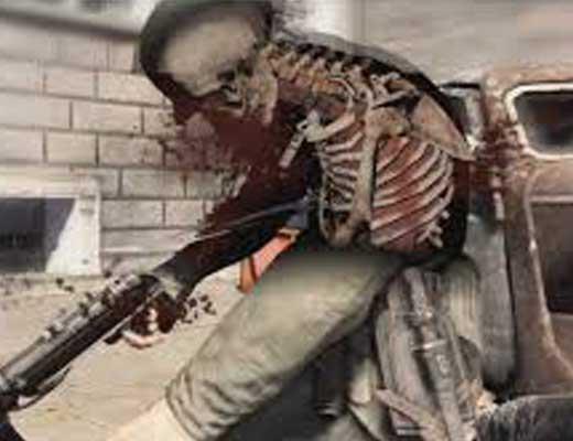 【戦場風景】目の前で兵士がスナイパーにヘッドショットされて脳みそが飛び出す瞬間をご覧ください ※グロ動画
