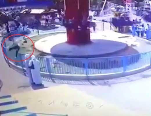 【事故動画】中東の遊園地さん リアル人間ロケットをイスラム教徒さんにブチ当てて再起不能にさせる模様 ※衝撃映像