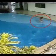 【悲報】まだ泳げない少女さんが誰にも気づかれずにプールで溺れて死亡するまでを捉えた一部始終映像がほんと胸糞注意 ※衝撃映像