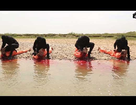 【イスラム国】無慈悲なisisさん 川を真っ赤に染め上げる斬首やスイカ割りの様に頭を吹き飛ばす鬼畜映像を公開したもよう・・・ ※グロ動画