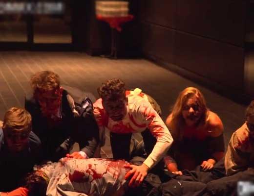 【ゾンビ】全身血まみれの集団に追いかけられたら平常心なんか完全に吹っ飛んで発狂するやろねw ※おもしろ動画