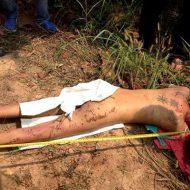【レイプ死体】路上でマンコ丸出しで寝てる女の子発見!その場で脱がして中出しされてるか確認しとくw ※グロ画像