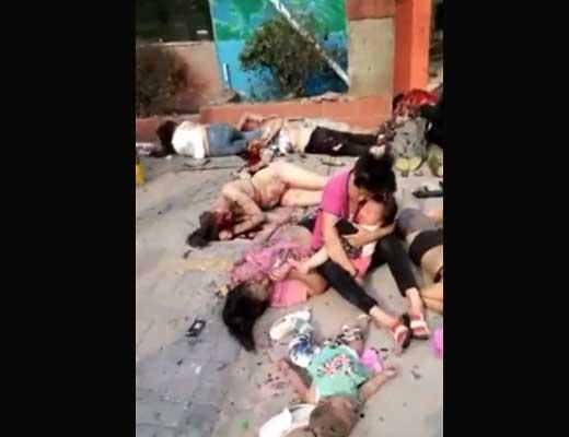 【速報】中国幼稚園爆発で死傷者多数の現場映像が地獄絵図過ぎてツライ・・・この国はいつでも爆発しとるな~ ※グロ動画