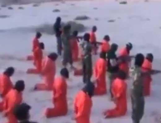 【大量処刑】17人を順番に殺していく処刑映像が怖すぎw 一列ごと撃ち殺していくとかもう・・・ ※グロ動画