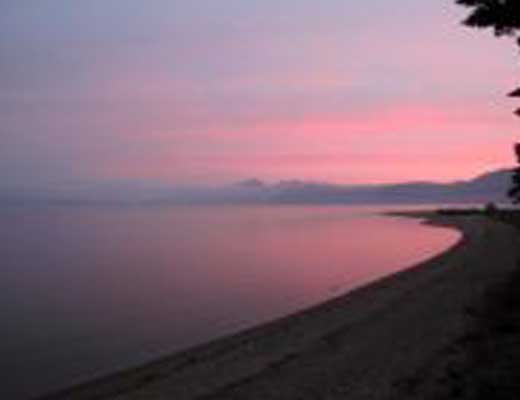猪苗代湖風景写真