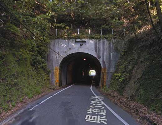 豊田湖のトンネル風景写真