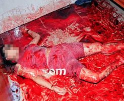 【女 死体】首チョキーで傷クパァ~の血まみれにされて殺害された女の子がコレ どんな恨み買われてたんだよ・・・ ※グロ画像