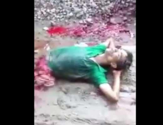 【轢断事故】もうだめぽよ~ 電車に轢かれて半分マンになった男性さん 昼寝をしようとするも無事死亡w ※グロ動画