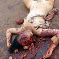 【全裸死体】パイパンマンコ丸出しで寝ている女の子発見したんだがw頭カチ割れてクパァ~してた・・・ ※エログロ画像