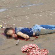 【グロ画像】14歳の少女さんがブチ殺されて道端に捨てられる事件が発生した模様・・・ ※女 死体