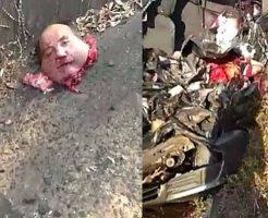 【グロ動画】トラックとの事故で頭が飛んで行ったおじさんが近くにいた幼女さんにトラウマ植え付けとるw ※閲覧注意