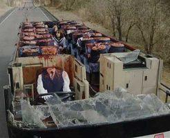 【グロ動画】バスに乗っていたJK達のほとんどが上半身が切断されて切り株になった事故映像・・・ ※グロマップ