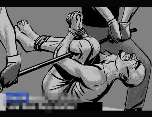 【衝撃映像】これが中国三千年の歴史かw人権フル無視で拷問してる映像が鬼畜すぎwww