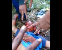 【グロ動画】殺したばかりの頭を何度もビンタしていくブラジル麻薬カルテルの解体映像が怖すぎワロタwww ※処刑